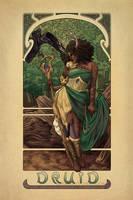 La Druide - The Druid by brandiyorkart