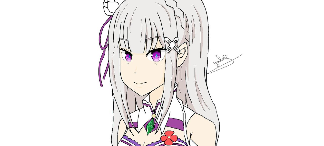 Paint Level Up  Emilia de Re: zero by Yala-chan