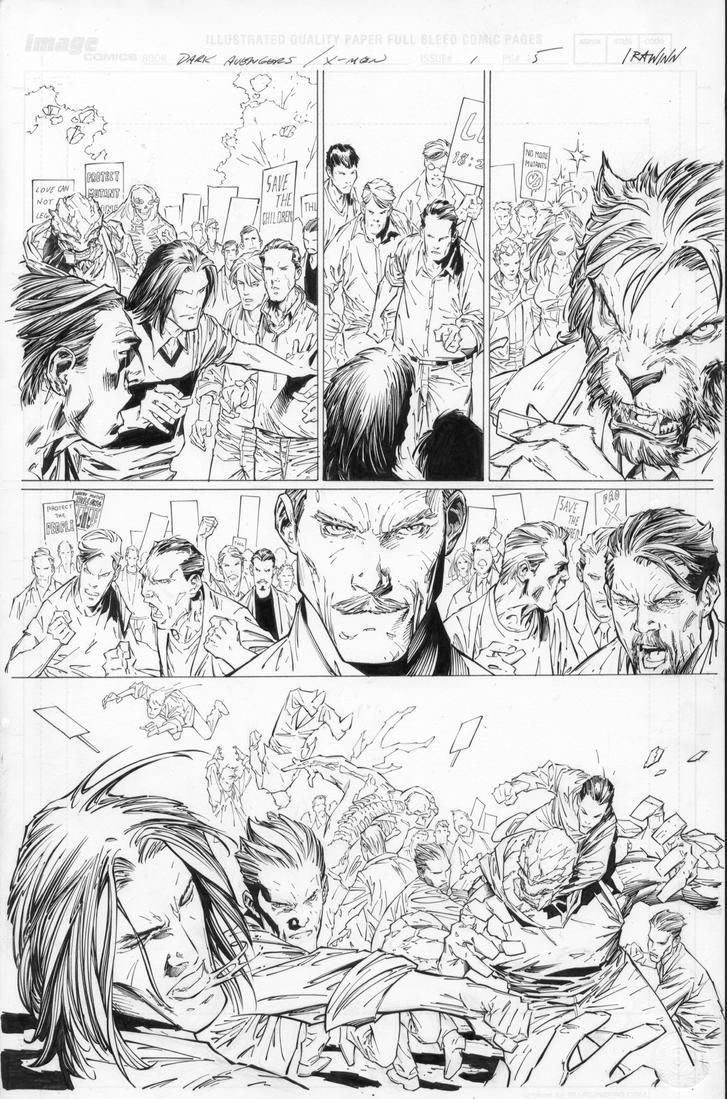 Dark Avenger X-Men Utopia by RyanWinn