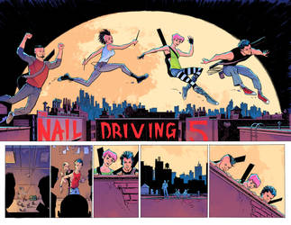 Nail Driving Five pages 2-3 by RyanWinn