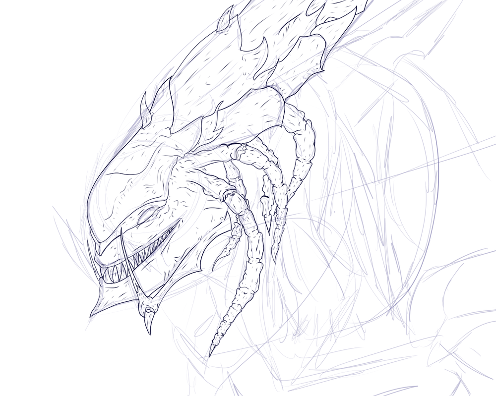 Broodmother Portrait Wip by Brokenshade25