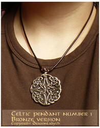 Celtic pendant 1, bronze by dragonladych