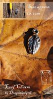 Leaf charm by dragonladych