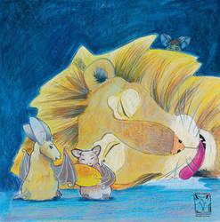 The lion sleeps by dragonladych