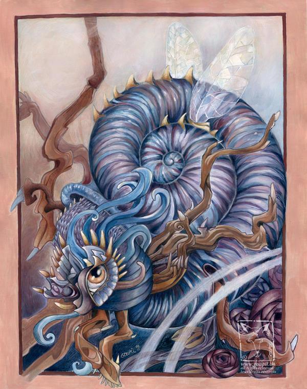 Snail Beastie by dragonladych