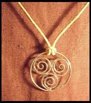 silver spiral pendant