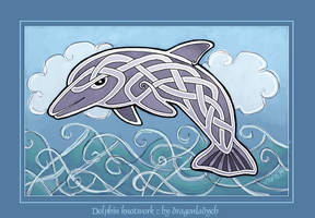 Knotwork dolphin by dragonladych