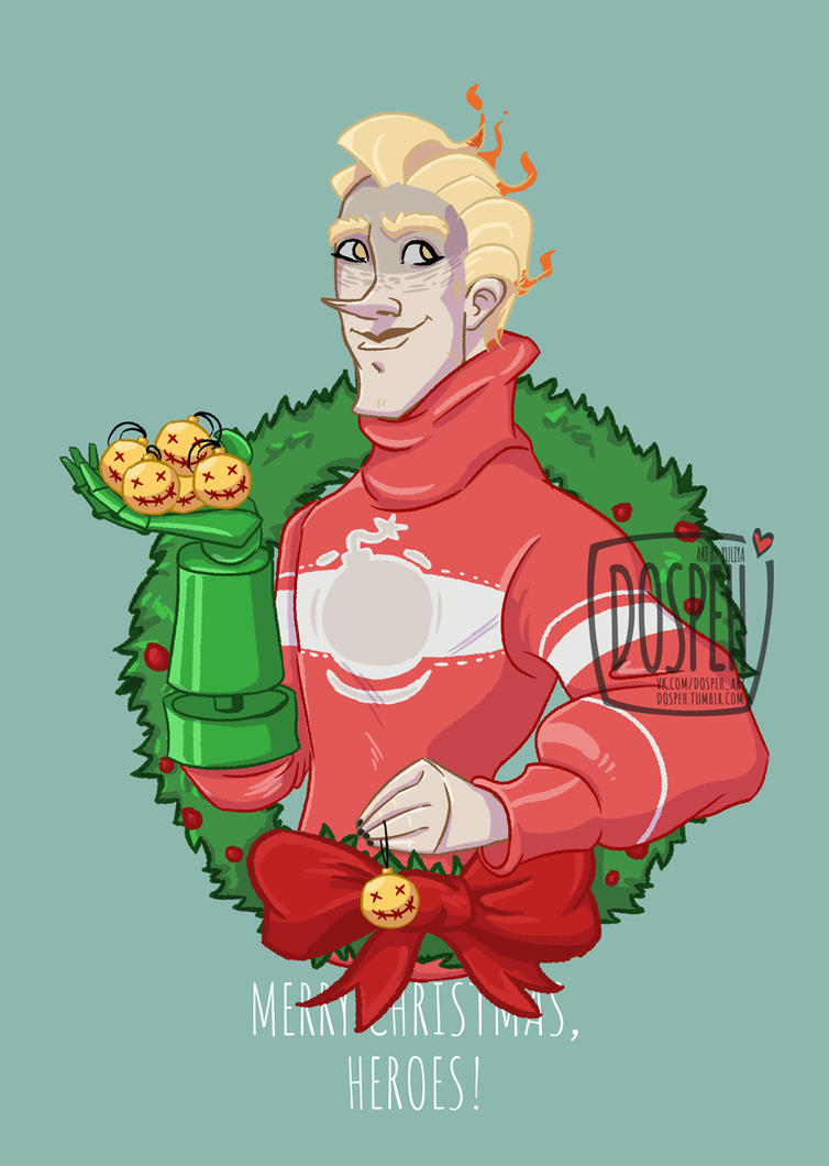 Overwatch christmas portraits junkrat by dospeh on deviantart - Overwatch christmas wallpaper ...