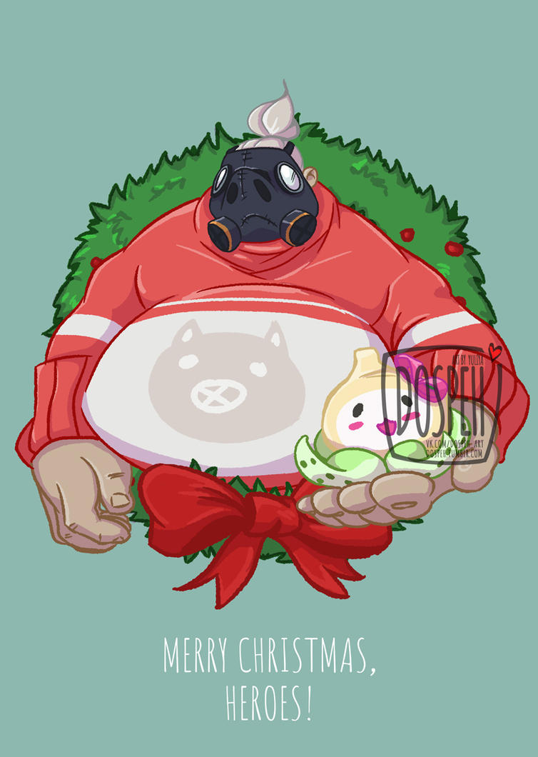 Overwatch christmas portraits roadhog by dospeh on deviantart - Overwatch christmas wallpaper ...