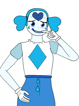 Blue Spinel Half-Body