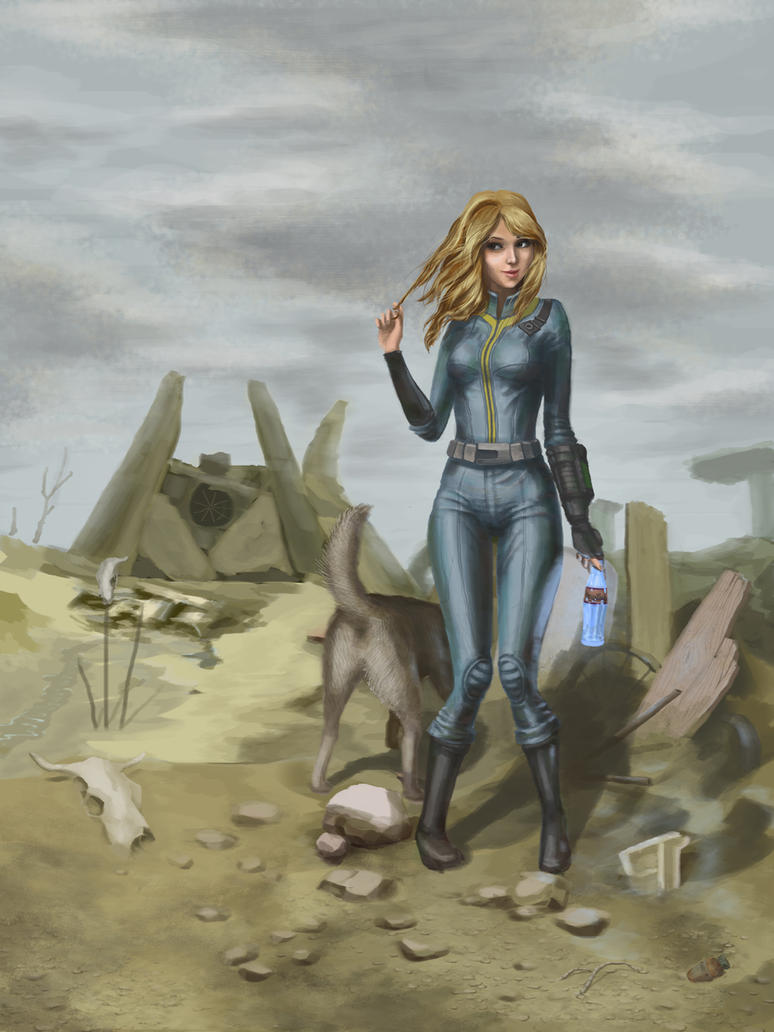 Fallout 3 Anime Characters : Vault girl by scerg on deviantart