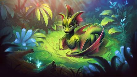 Little forest dragon