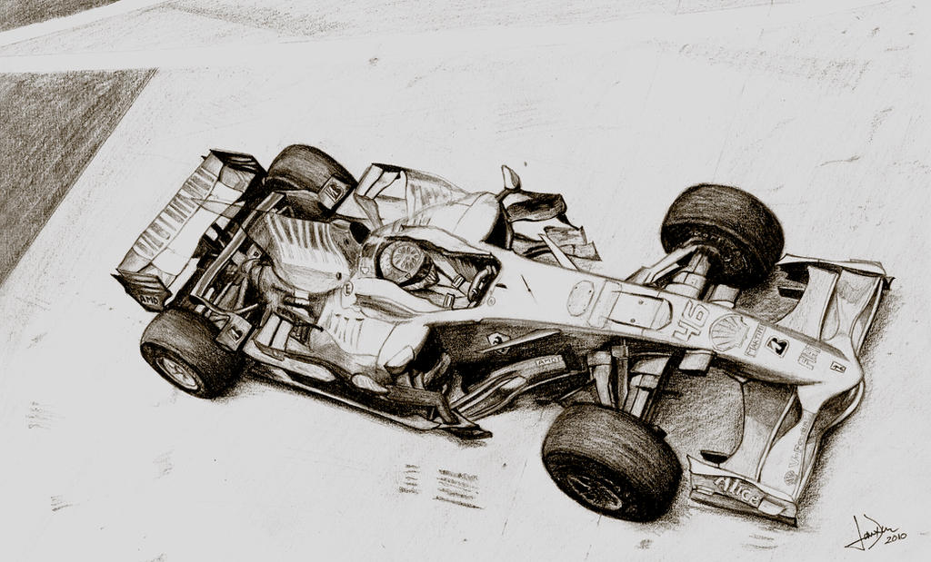 Formula 1 Drawing By Xcaped On Deviantart