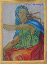 Michelangelo, Sibilla Delfica_