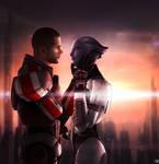 Mass Effect - Liara and Male Shepard