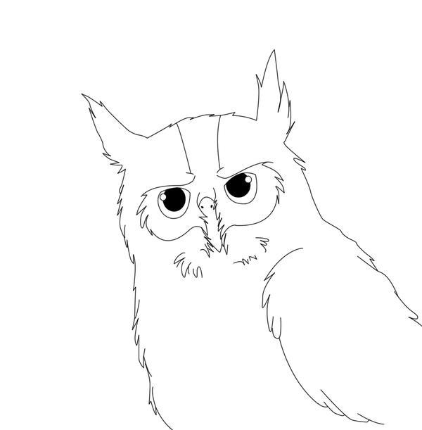 Line Art Owl : Owl lineart by kairi on deviantart