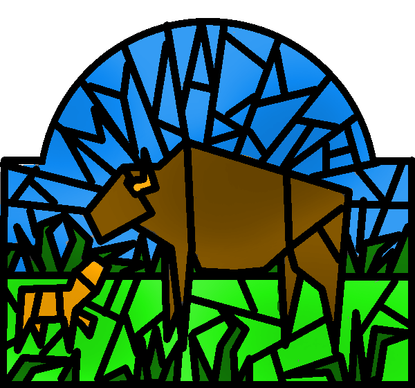 Buffalo stained glass by ryontail