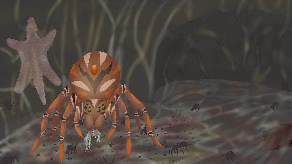 Giant Spiders and Dead hares by ryontail