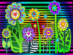 hippie flowers by PsychedelicTreasures