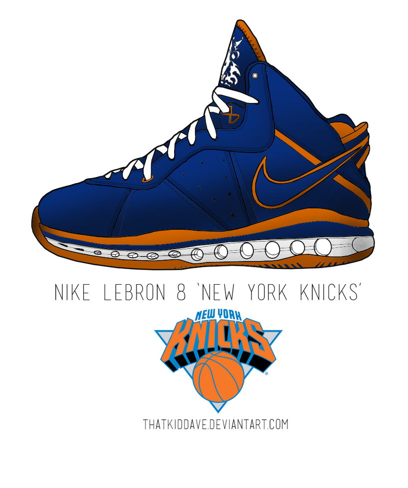 new style 7946e b2233 ... Nike LeBron 8 New York Knicks by ThatKidDave .