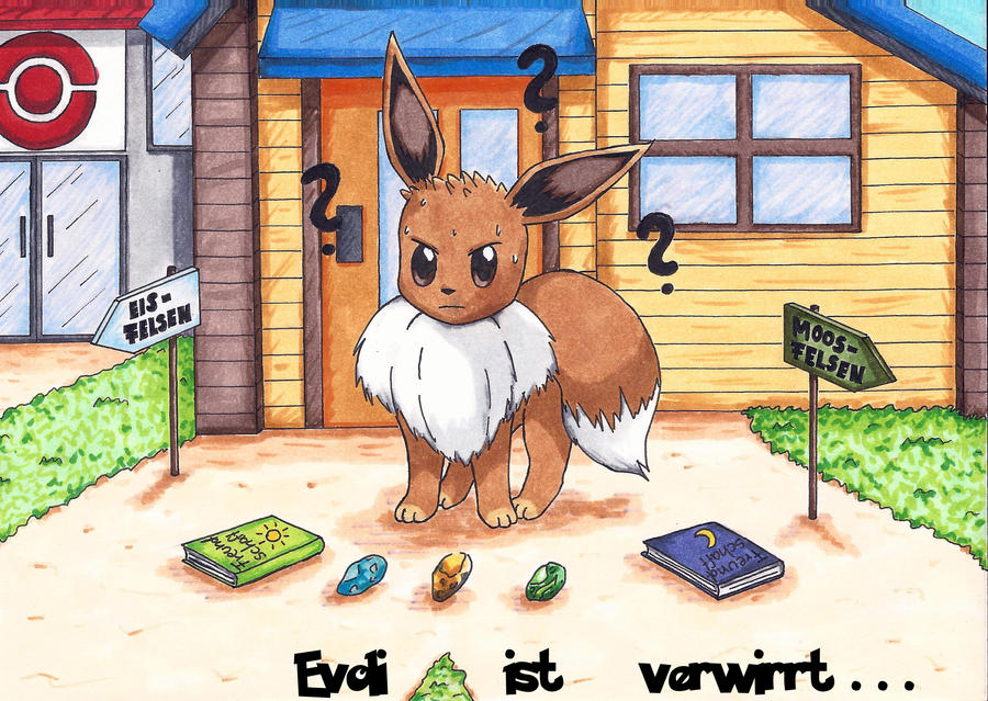 Evoli is confused pokemon by rikamadoka on deviantart - Pokemon famille d evoli ...