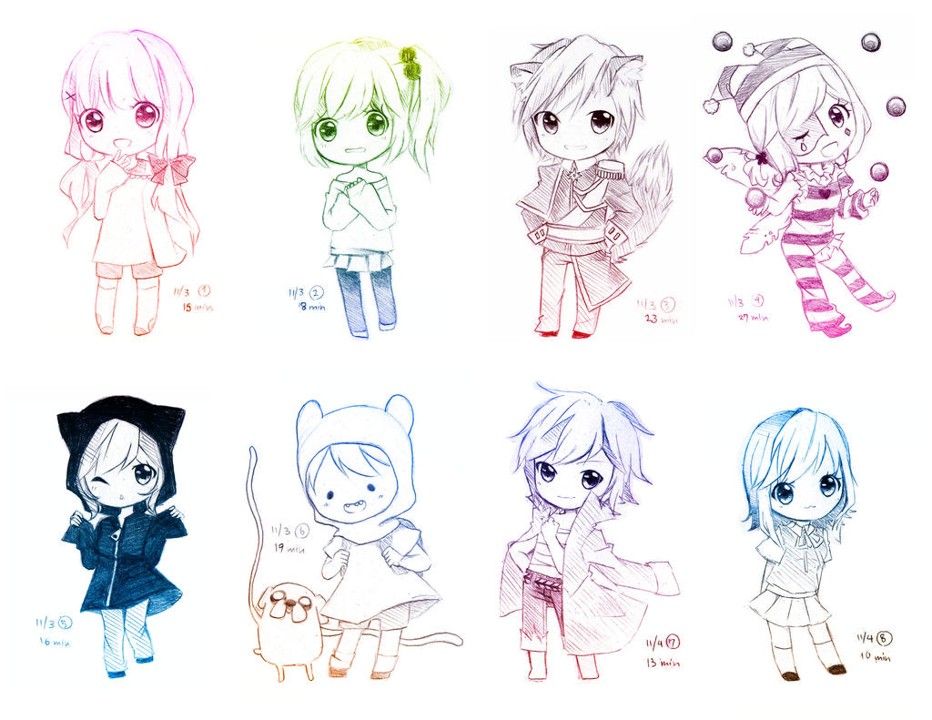 Request Chibi Batch by MikiClover
