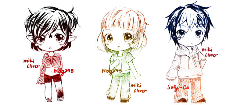 Chibi Commission Batch 2 by MikiClover