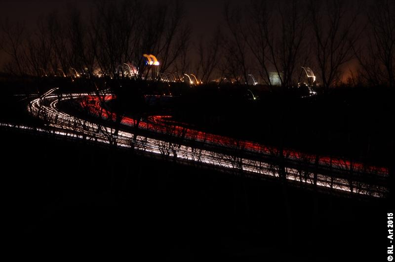 German Autobahn at night by reiner67