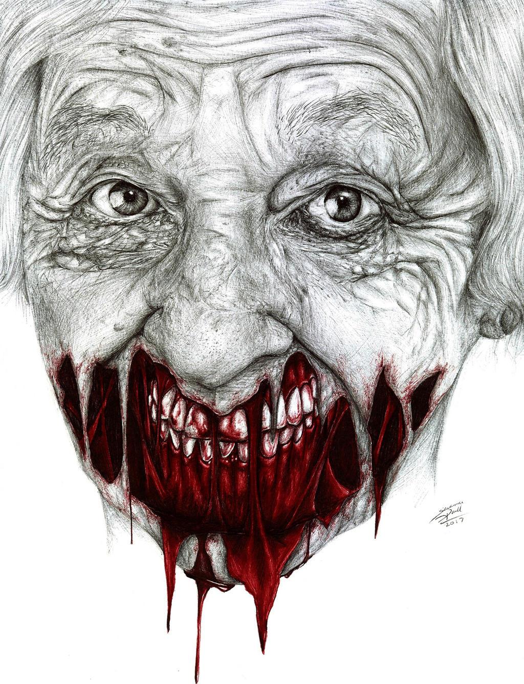 Grandma Zombie by Mixielion