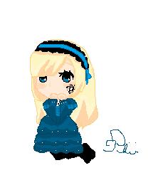 Chibi Hortense in Pixel Art by HanHan25