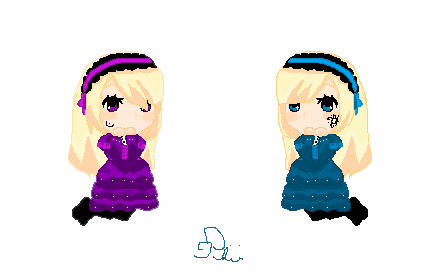 Violette and Hortense PixelArt by HanHan25