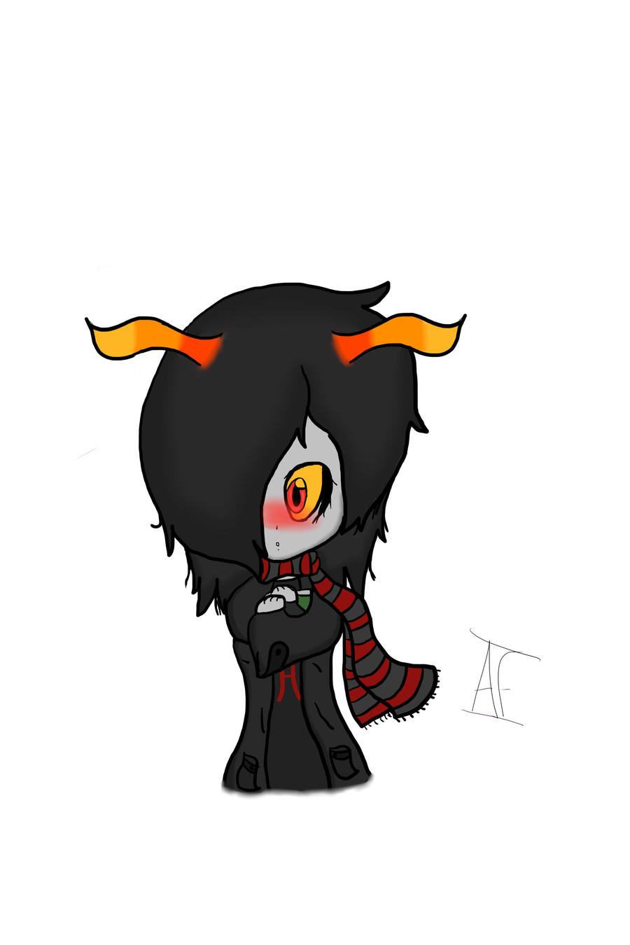 old drawing Troll_oc_by_chao_lova-d4rs4m9
