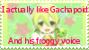 I actually Like Gachapoid Stamp by AkitaFanZ