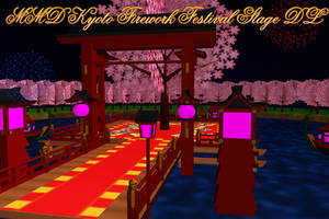MMD Kyoto Firework Festival Stage DL by AkitaFanZ