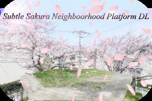 MMD Subtle Sakura Neighborhood Platform DL by AkitaFanZ