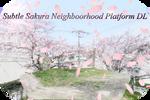MMD Subtle Sakura Neighborhood Platform DL