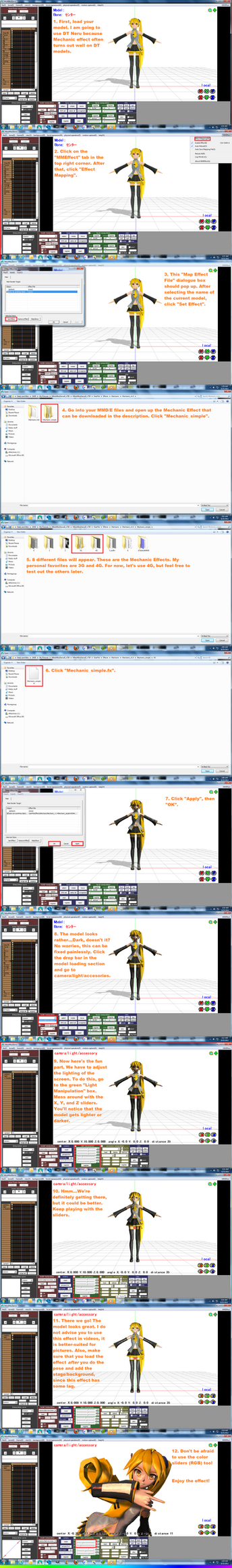 MMD Mechanic Effect Tutorial + DL by AkitaFanZ