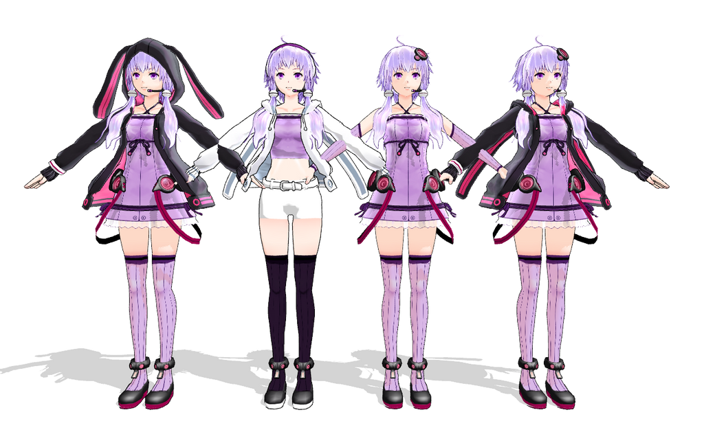 MMD Yukari Yuzuki Model Pack Download by AkitaFanZ