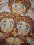 triple Goku for saiyuki new story's cover