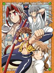 SAIYUKI  gold and silver arc cover!