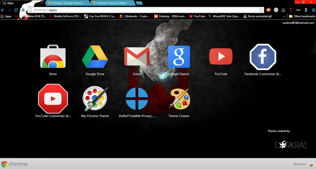 Gmail theme creator - Darkrai Theme By Syabatron Darkrai Theme By Syabatron