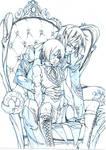 Fanart Kuroshitsuji - Black Butler -pencil and ink