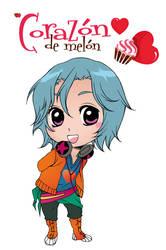 Amour Sucre 4 Plan de Vol - Chibi Alexy color by xiannustudio