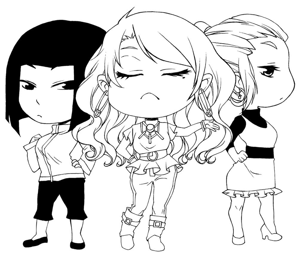Manga studio ex 5 coloring pages ~ Amour Sucre 4 Plan de Vol - Chibi Amber-L-C ink by ...