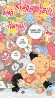 Yuzuru Hanyu and plushies - fanart