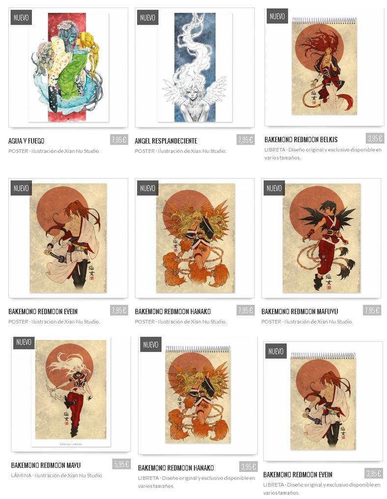 Laminas posters y libretas originales by xiannustudio on - Laminas y posters madrid ...