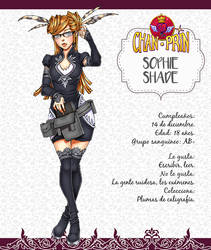 ChanPrin Videogame - Ficha - Sophie Shade by xiannustudio
