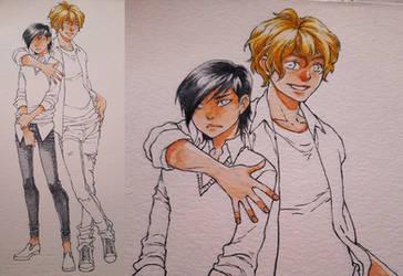 Evan and Romeo -WIP