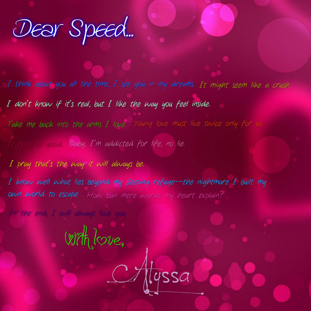 Speed Racer Love Letter By Mach On Deviantart