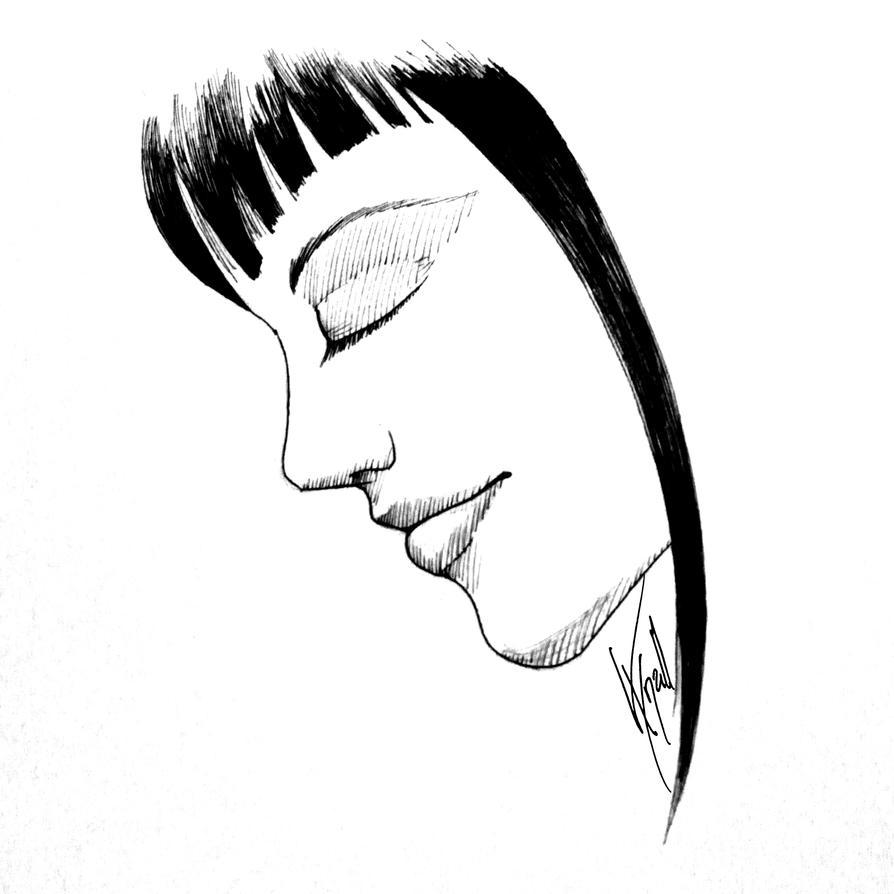Free drawing: Black hair girl by Vynall on DeviantArt